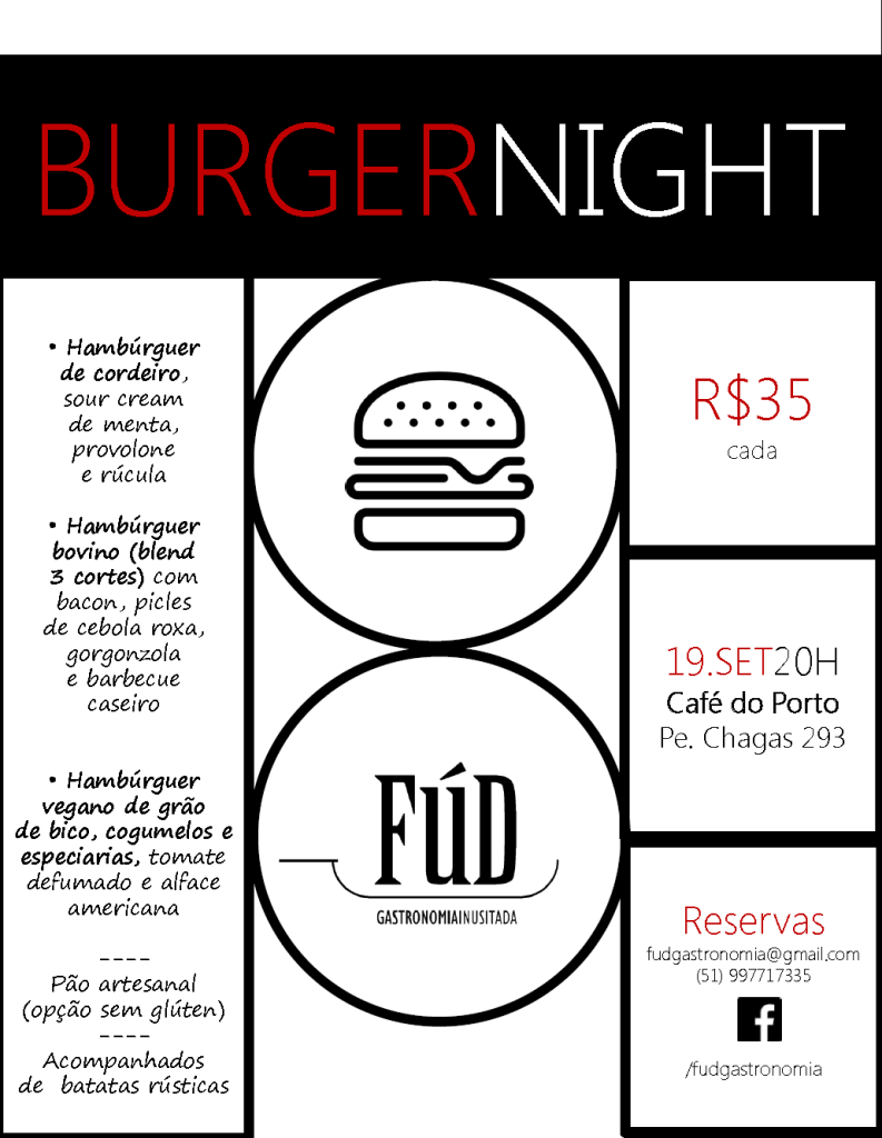 Burger Night Café do Porto_v1