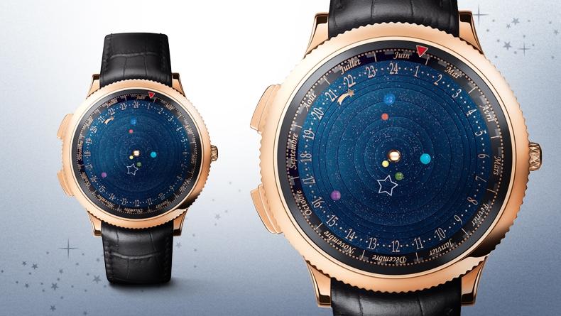 Van Cleef & Arpels cria luxuso relógio que exibe órbita dos planetas