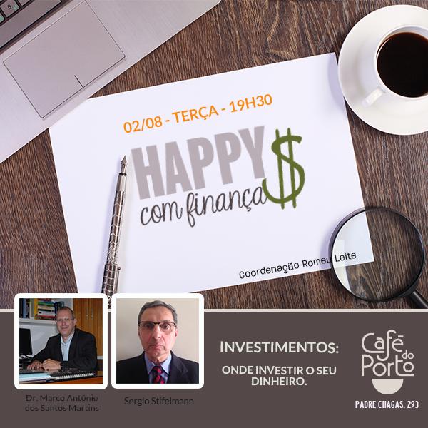 Happy Hour com Finanças - 2 de agosto