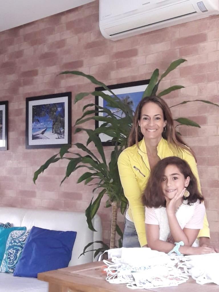 Letícia Almeida contou com o apoio da filha Betina Almeida Fonseca durante a produção - Foto Divulgação