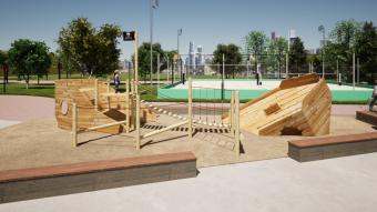 Praça Infantil - imagem Divulgação Cais Embarcadero