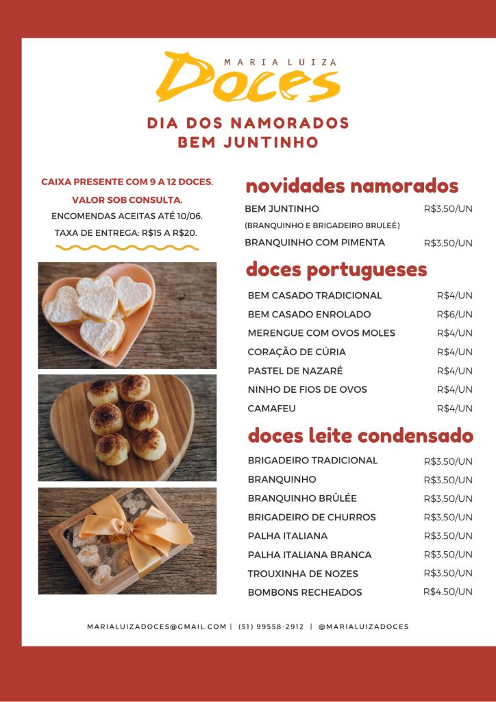 Maria Luiza Doces Dia dos Namorados 2021